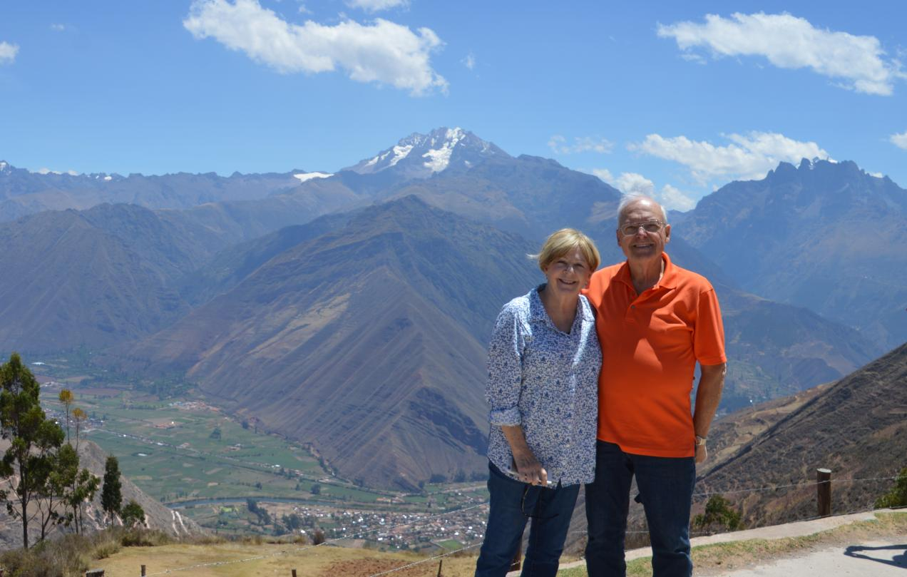 Paulette and Steve Thousands of Feet Above the Sacred Valley Outside Cusco, Peru