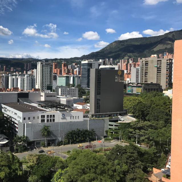 Oviedo Mall and the neighborhood of Poblado in Medellin, Colombia.