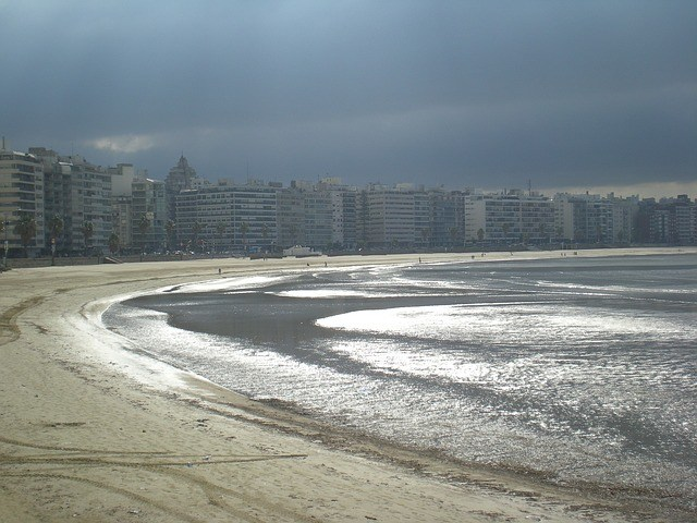 Rambla Beach at Montevideo, Uruguay, # 9 of 10 cheapest countries to retire in the Americas.
