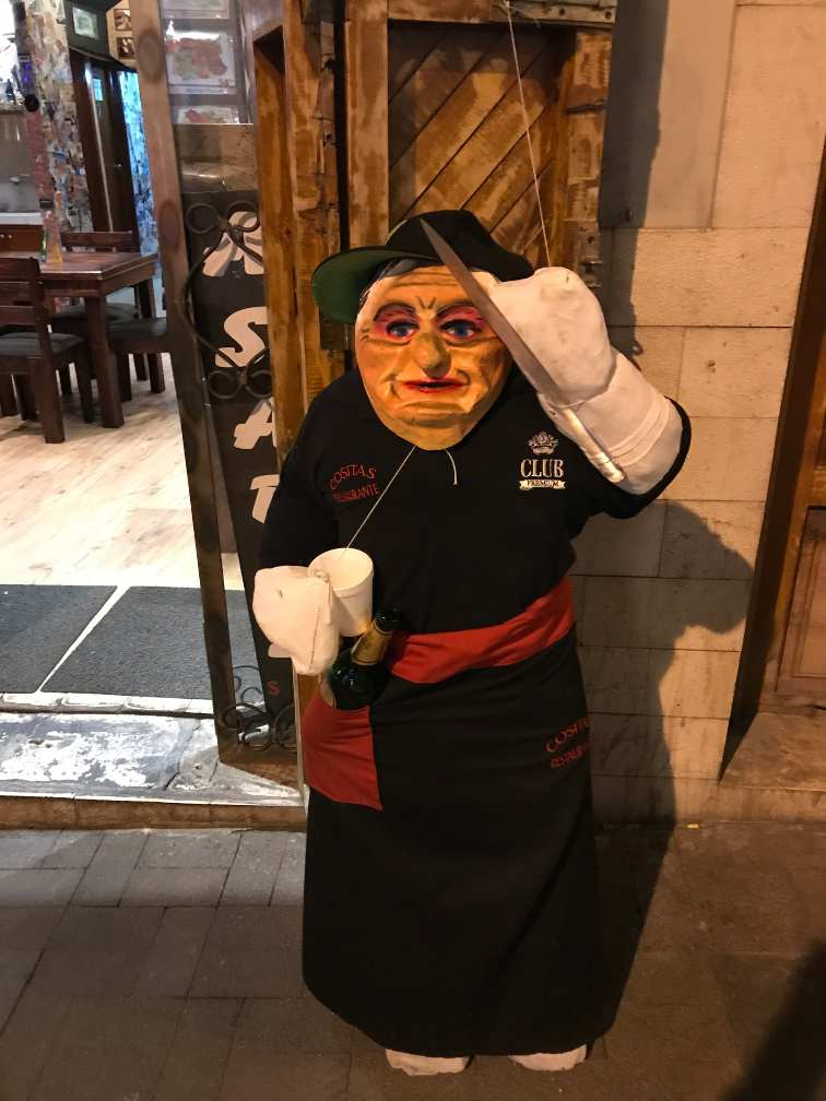 Effigy Doll at a Restaurant New Year's Eve