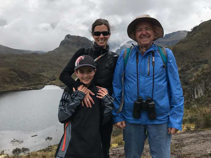 Cuenca Cajas National Park - Steve hiking